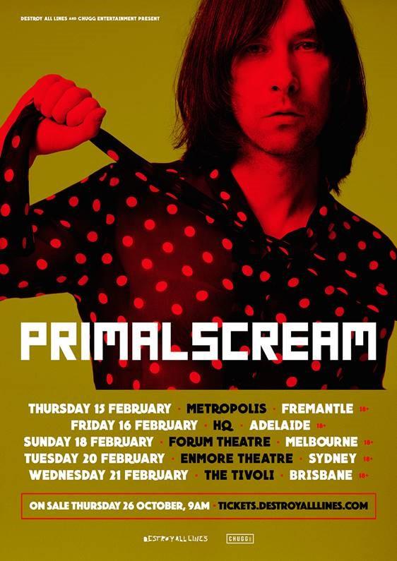 primal scream australian tour