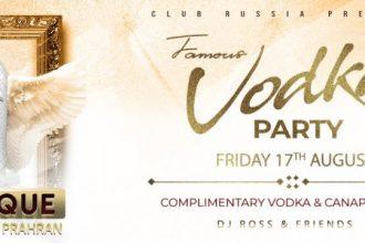 famous vodka party member guestlist